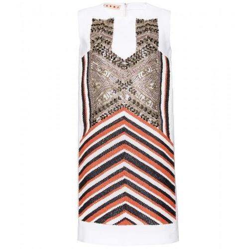 Marni Kleid Mit Stickereien
