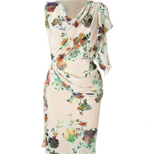 Matthew Williamson Blush Drape Silk Dress