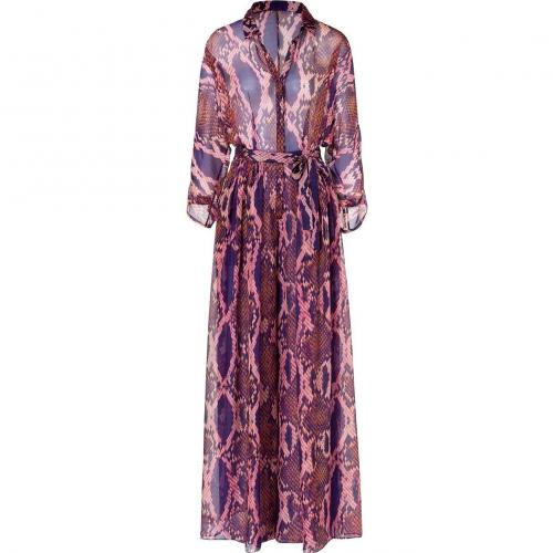 Matthew Williamson Escape Purple Snake Print Oversized Jumpsuit