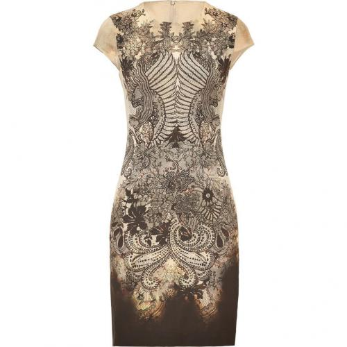 McQ Alexander McQueen Multicolor Printed Silk Blend Dress