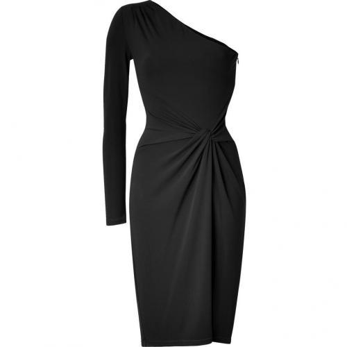 Michael Kors Black One Shoulder Dress
