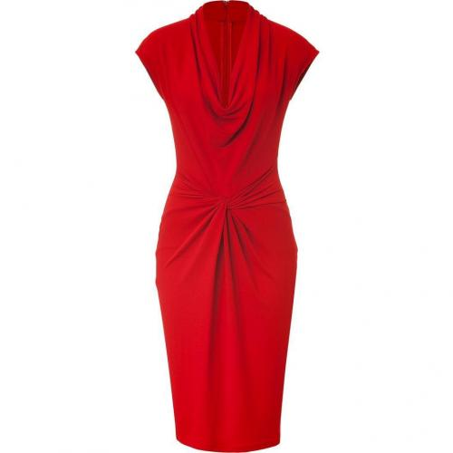 Michael Kors Crimson Red Draped Dress