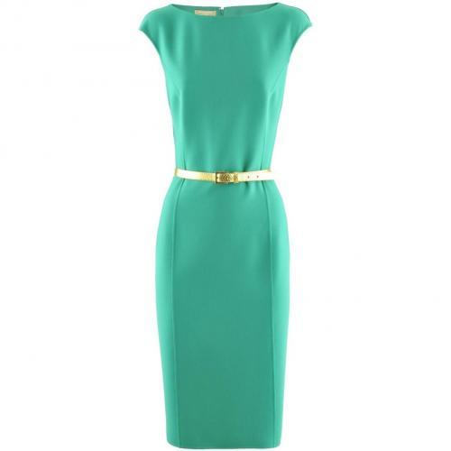 Michael Kors Green Gold Belted Dress