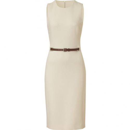 Michael Kors Ivory Virgin Wool Belted Dress
