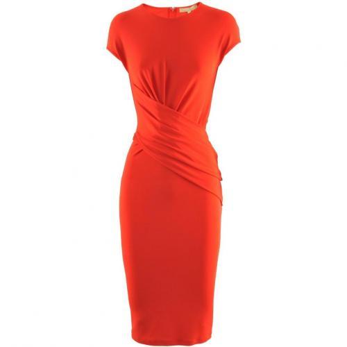 Michael Kors Red Asymmetric Dress Ruffle