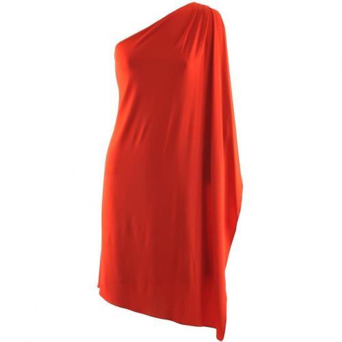Michael Kors Red One Shoulder Dress