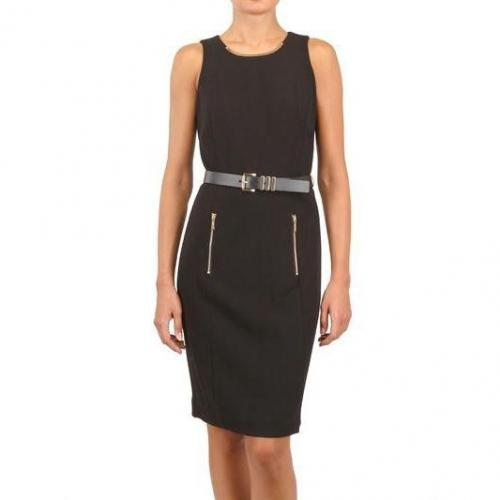 Michael Michael Kors Lux Crepe & Zip Kleid
