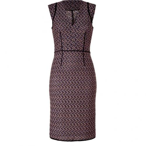 Missoni Lavender/Black Patterned Knit-Dress