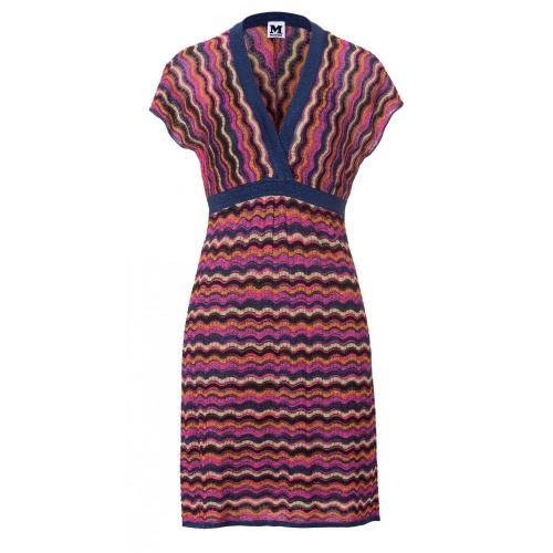 Missoni M kurzärmliges Kleid Multicolor