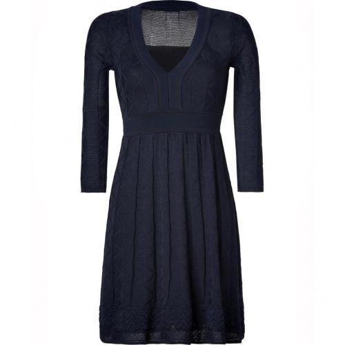 Missoni M Navy Wool-Blend Knit Dress