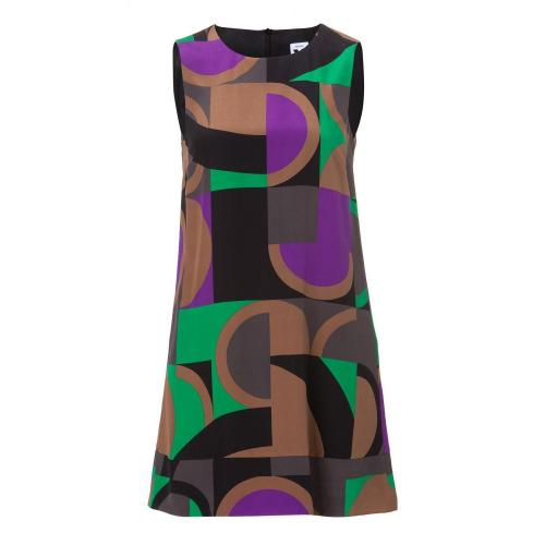 Missoni M Seiden ärmelloses Kleid Multicolor
