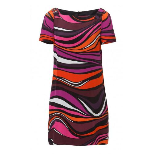 Missoni M Seiden Kleid Multicolor