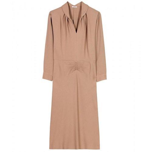 Miu Miu Crêpe-Kleid Mit Betonten Schultern