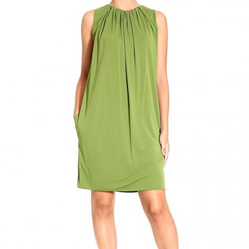 Moschino Sleeveless jersey drape dress