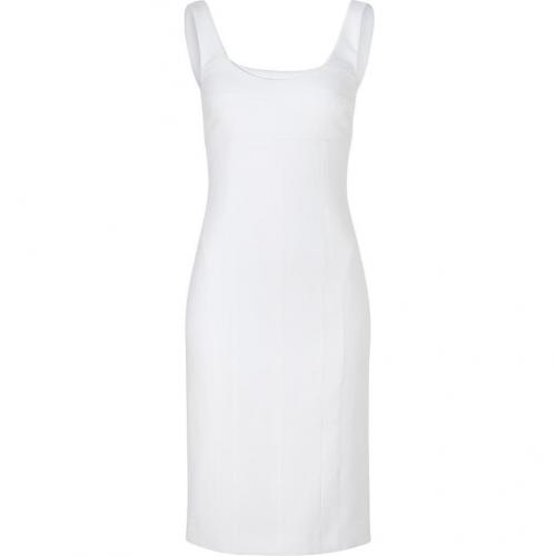 Narciso Rodriguez Optic White Sleeveless Sheath Dress