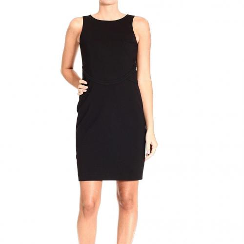 Paciotti Sleeveless technic wool zip sheath dress