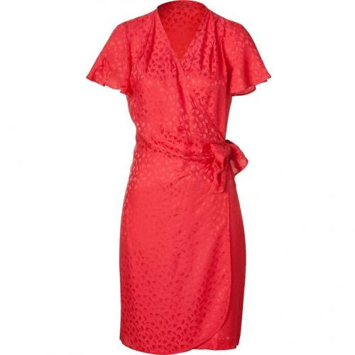Paul & Joe Red Draped Silk Dress