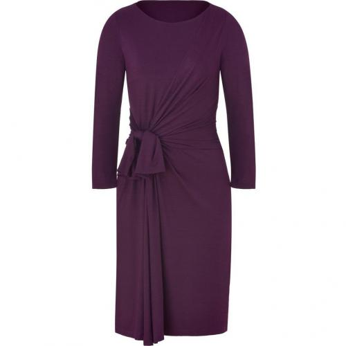Paule Ka Aubergine Draped Dress