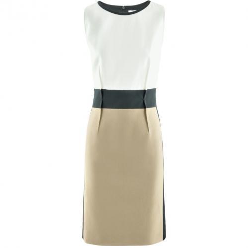 Paule Ka White Beige Black Dress