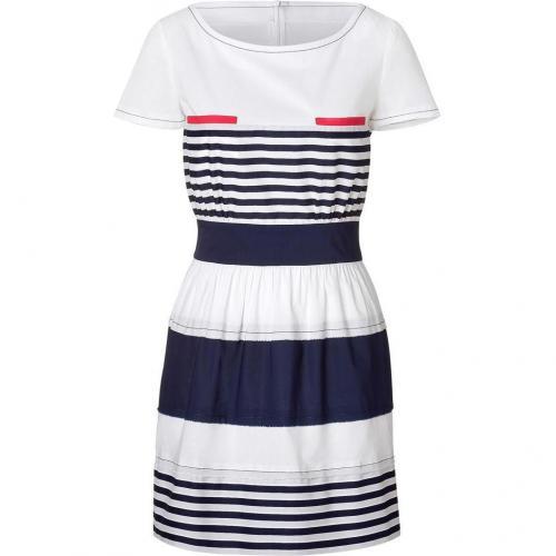 Philosophy di Alberta Ferretti White and Navy Stripe Dress