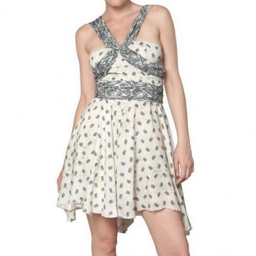 Pierre Balmain Asymmetrisches Bedrucktes Viskose Kleid