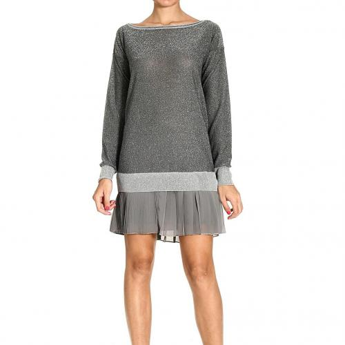 Pinko Short Dress Grey