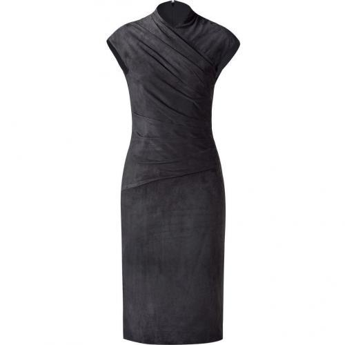 Ralph Lauren Collection Dark Grey Suede Stephanie Dress