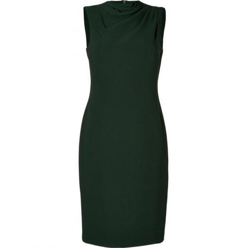 Ralph Lauren Collection Racing Green Silk Kristen Dress