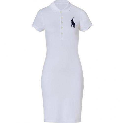 Ralph Lauren White Stretch Mesh English Dress