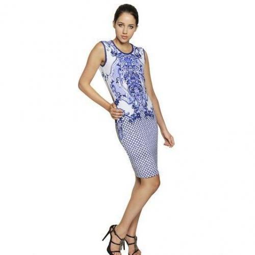Roberto Cavalli Bedrucktes Viskose Jersey Kleid