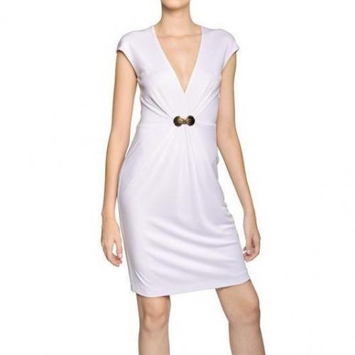 Roberto Cavalli Schmuckbesetztes Gekraustes Viskose Jersey Kleid