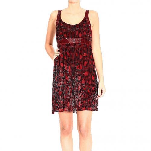 Roberto Cavalli Sequin embroidery braces dress