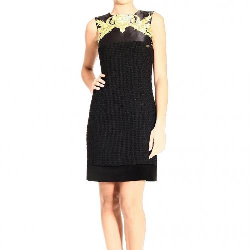 Roberto Cavalli Sleeveless boucle wool floral rint dress