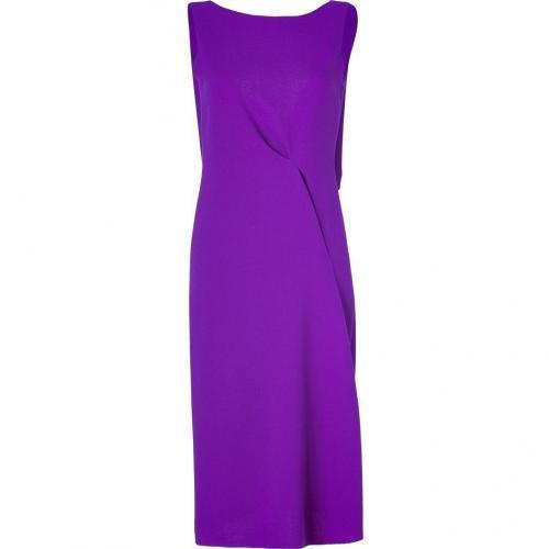 Roksanda Ilincic Purple Double Wool Crepe Mid-Length Dress