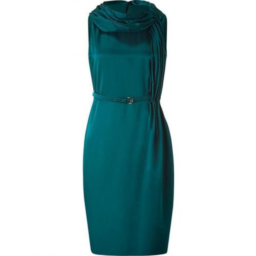 Salvatore Ferragamo Emerald Belted Dress