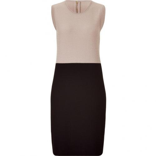 Salvatore Ferragamo Pearl Cream and Black Knit Dress