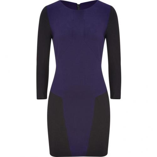 Sandro Black/Deep Purple Dress with Back Zip