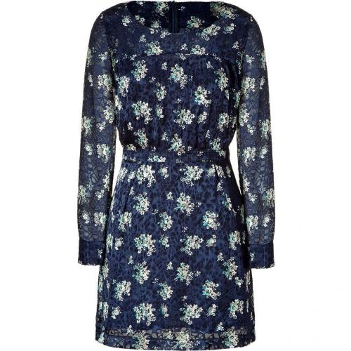 See by Chloé Navy Print Kleid