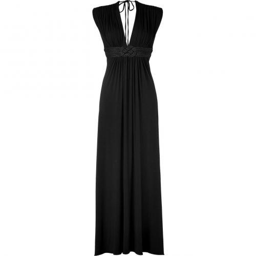 Sky Black Belted Joselind Long Dress