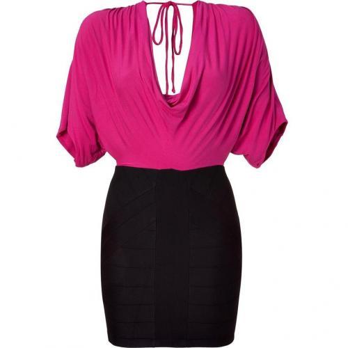 Sky Pink/Black Dolman Dress
