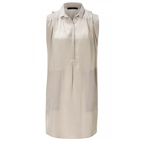 Sly 010 Seiden Kleid Beige