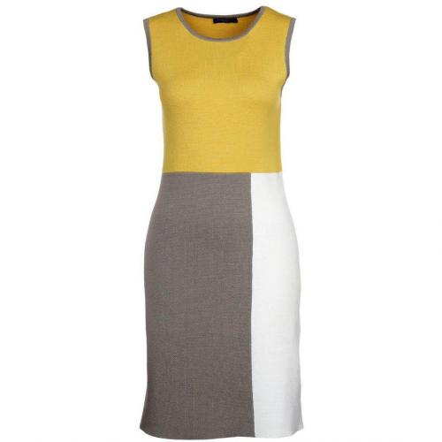 Strenesse Blue Strickkleid yellow/taupe