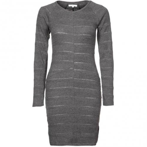 Surface to Air Strickkleid grey black