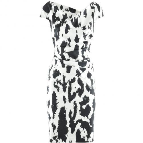 Talbot Runhof Black White Print Dress Romania 9