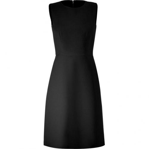Valentino Black A-Line Wool Dress