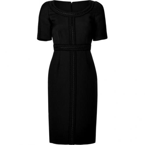 Valentino Black Wool-Silk Sheath Dress