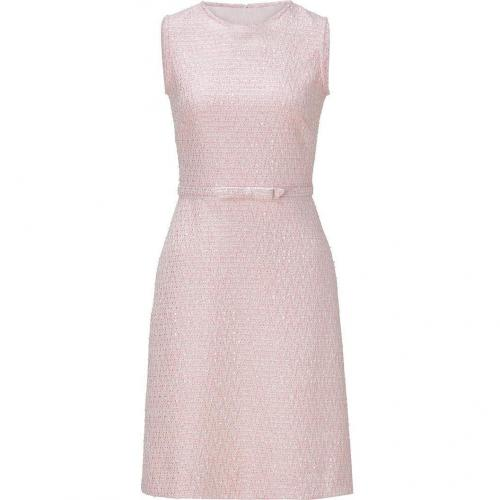 Valentino Blush Belted Boulce Knit Dress