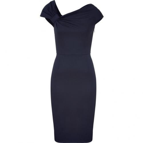 Valentino Dark Blue Draped Classic Dress