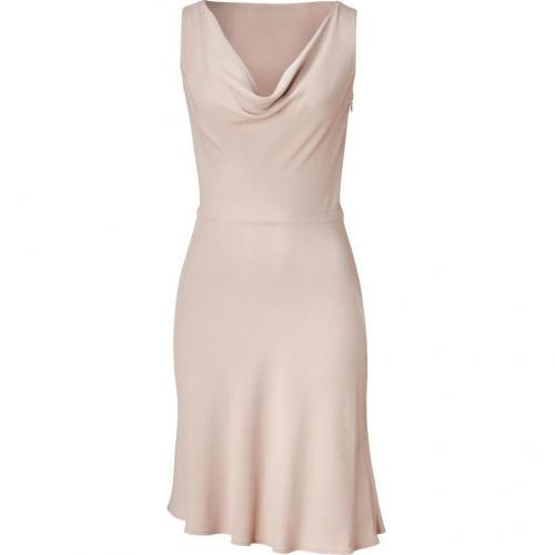 Valentino Nude Cowl Neck Swing Dress