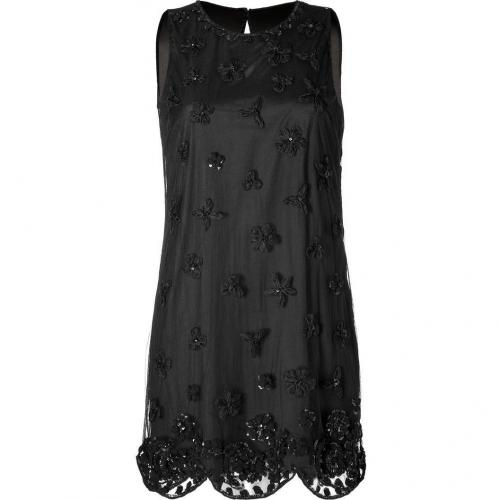 Valentino R.E.D. Black Flower Embellished Dress